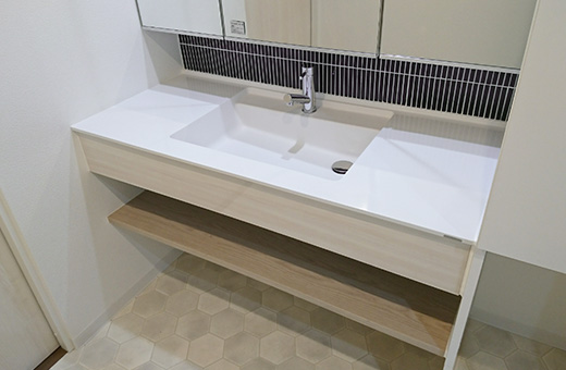 使いやすさ・お手入れ簡単な洗面台