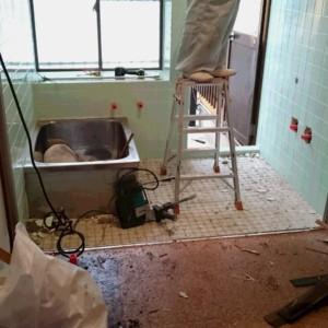 洗面脱衣所 在来浴室リフォーム工事