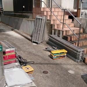 西区戸建て外壁屋根塗装 下屋根葺き替え工事進行中