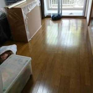 博多区マンション 在室和室解体直貼りクロス張り替え工事