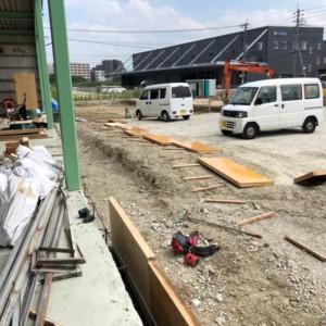 粕屋倉庫改修工事続き
