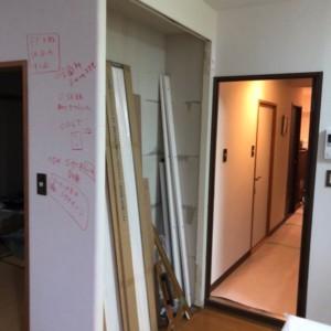 福岡市西区マンションキッチン、内装リフォーム中
