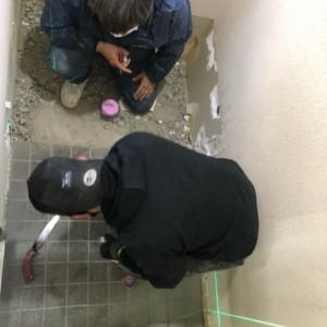 N社様和式トイレ改修リフォーム中