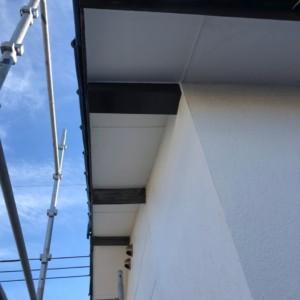 戸建て屋根 軒天漏水復旧工事