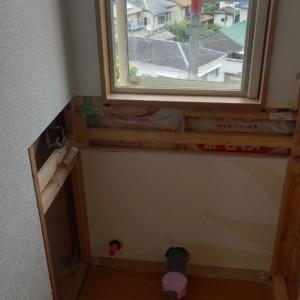宇美町戸建てトイレ新設続き