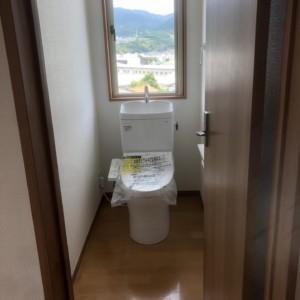 戸建て2階 トイレ新設工事完了